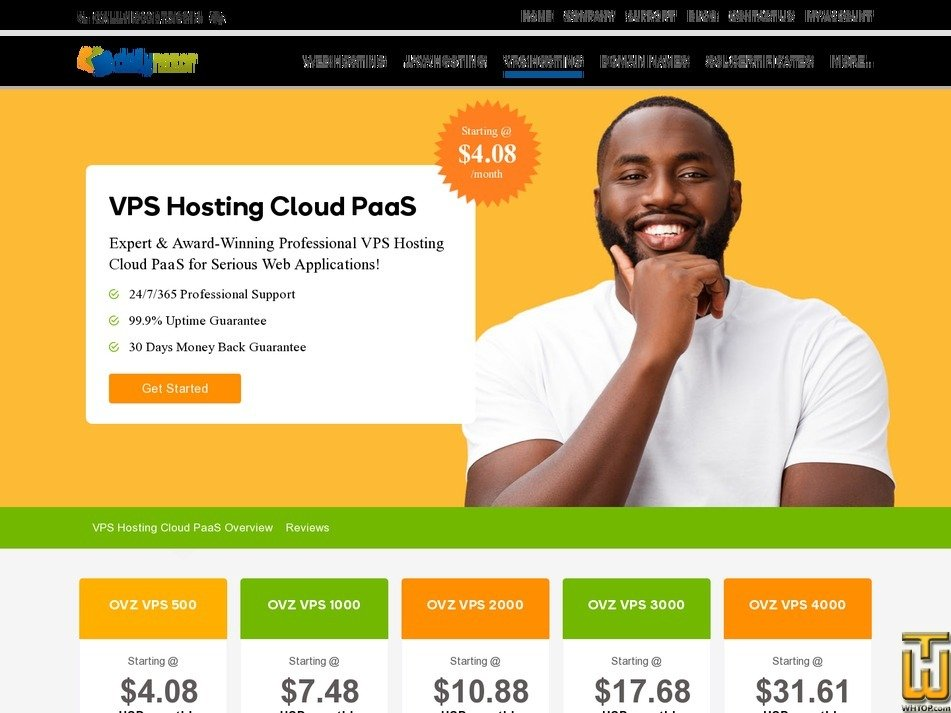 screenshot of OVZ VPS 500 from dailyrazor.com