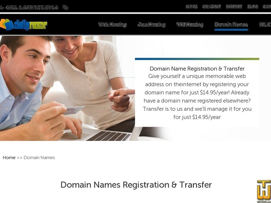 screenshot of .com from dailyrazor.com