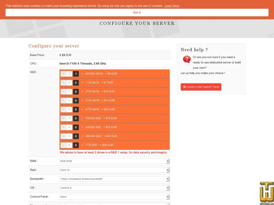 Screenshot of Light-i3 from dedistart.com