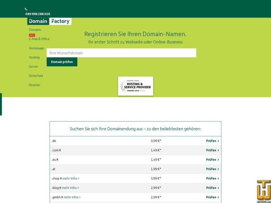 screenshot of .com from df.eu