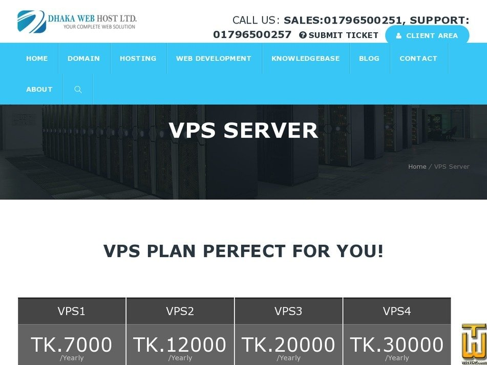 Screenshot of VPS2 from dhakawebhost.com