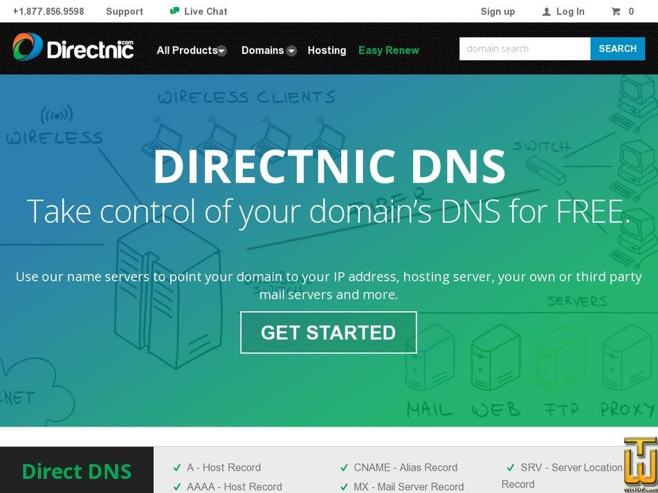 Screenshot of Direct DNS from directnic.com