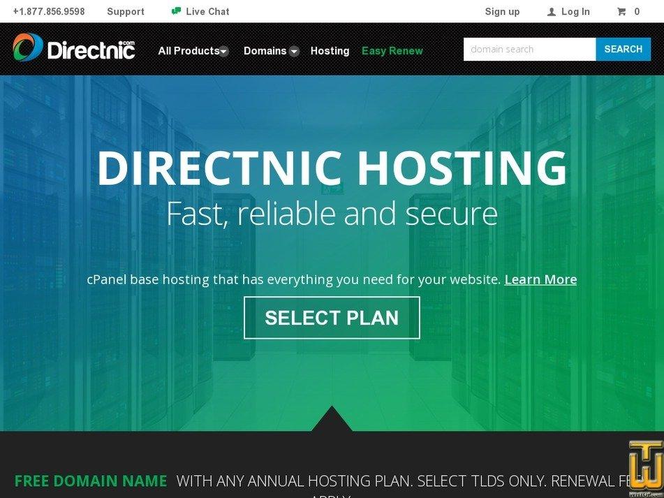 Screenshot of Lite Plan from directnic.com