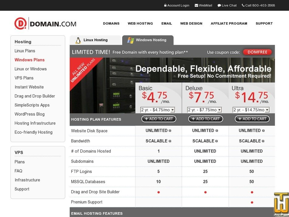 Screenshot of Basic from domain.com
