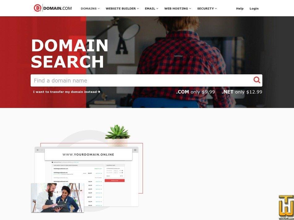 screenshot of .com from domain.com