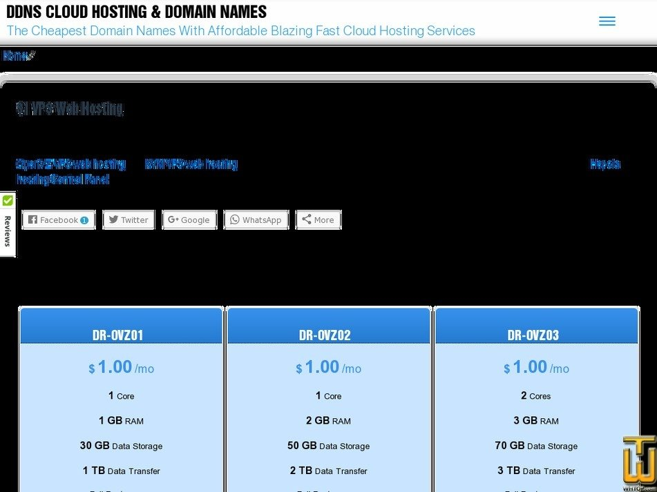 Screenshot of DR-OVZ01 from doneritehosting.net