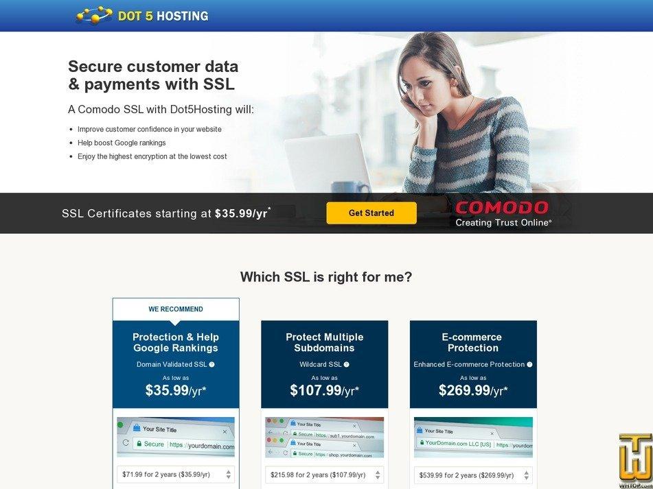 Screenshot of E-commerce Protection from dot5hosting.com