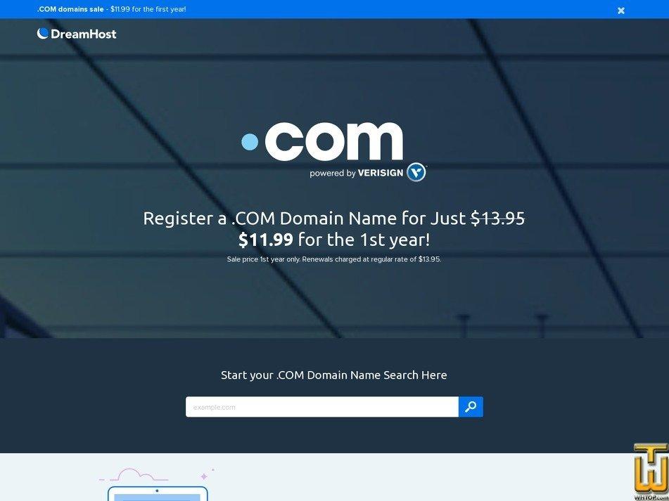 screenshot of DreamPress Starter from dreamhost.com