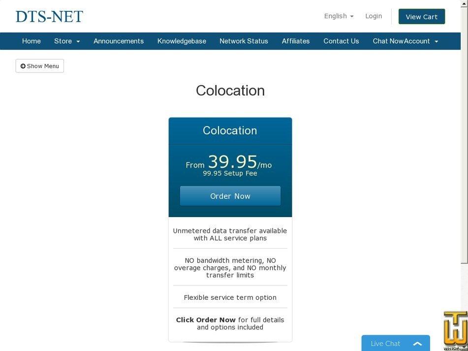 Screenshot of 1U Rack Unlimited promo from dts-net.com