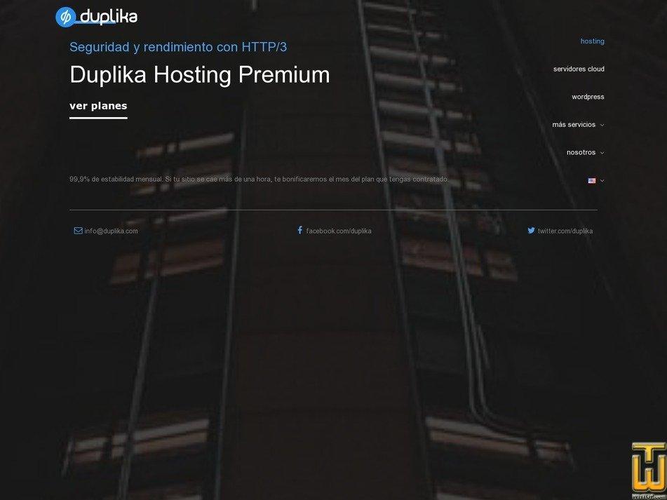 screenshot of Inicio from duplika.com