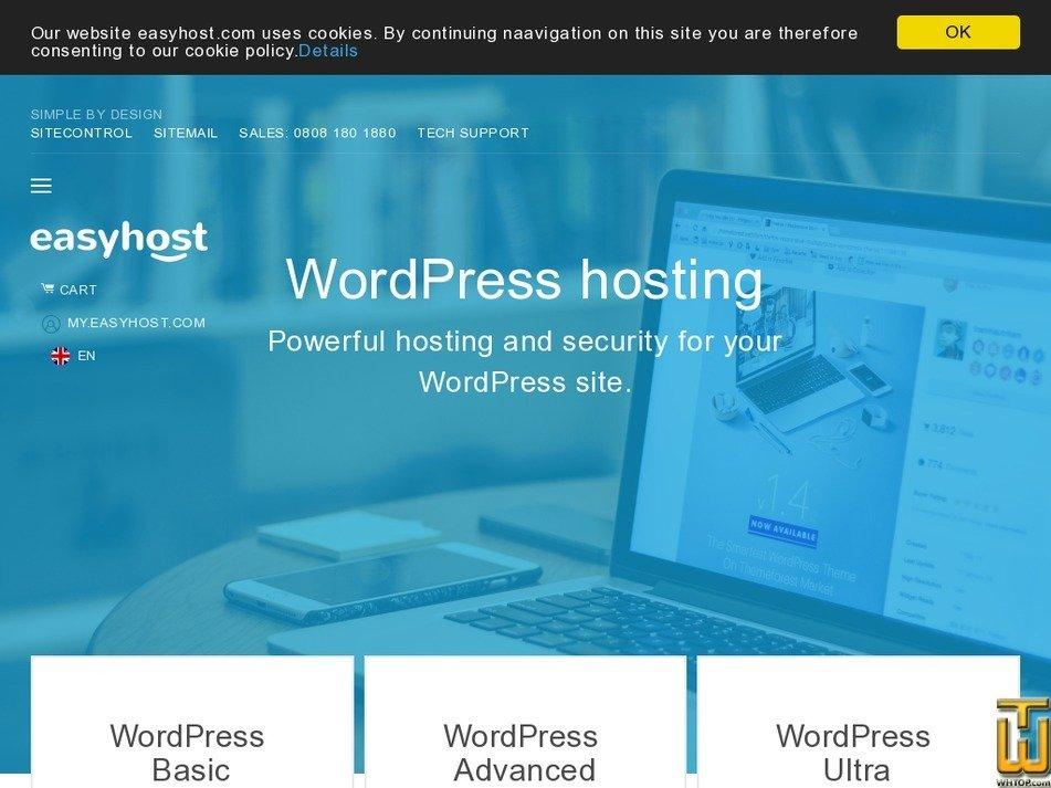 Screenshot of WordPress Basic from easyhost.com
