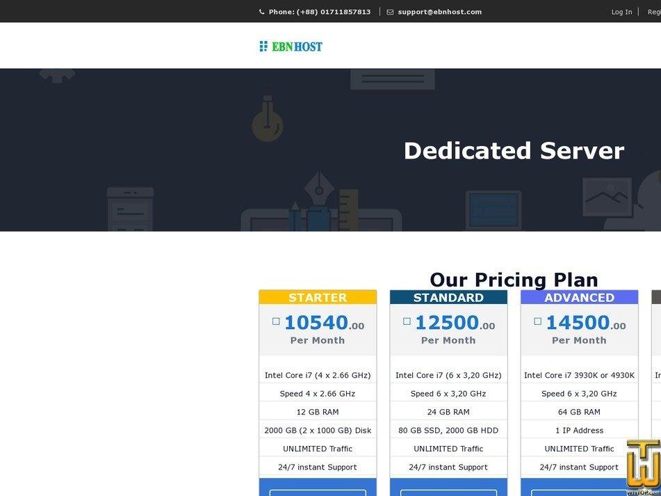 Screenshot of Starter from ebnhost.com