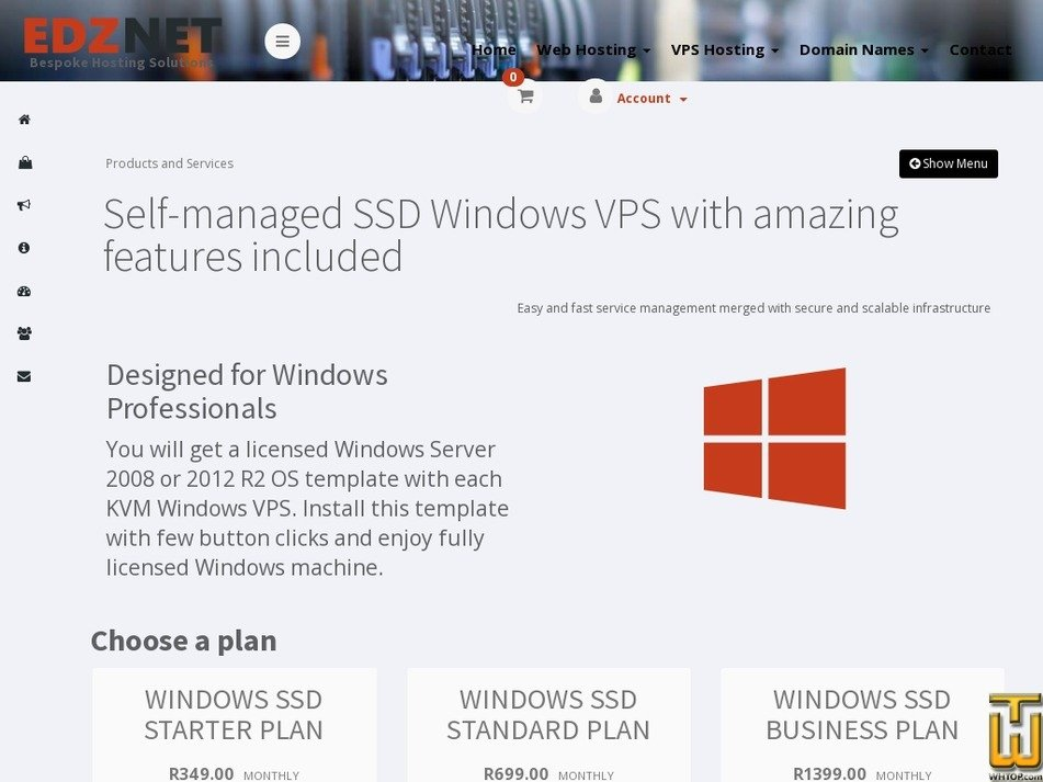 Screenshot of WINDOWS SSD BUSINESS PLAN from edznet.com