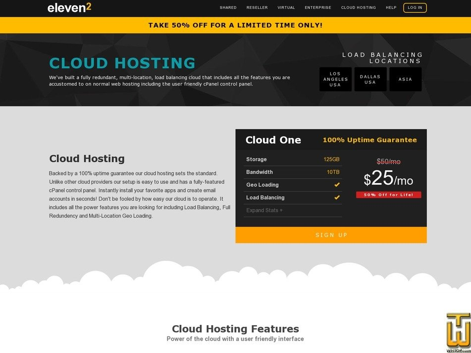 screenshot of Cloud One from eleven2.com