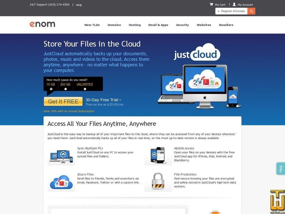 screenshot of 75G from enom.com