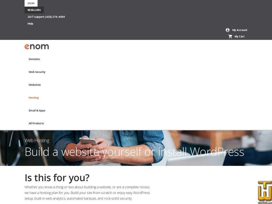 Screenshot of Starter from enom.com