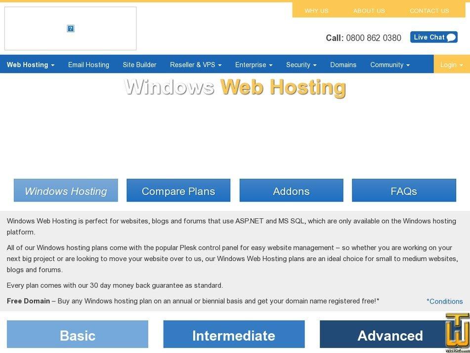 Screenshot of Basic from eukhost.com