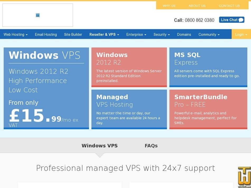 Screenshot of VPS Starter from eukhost.com