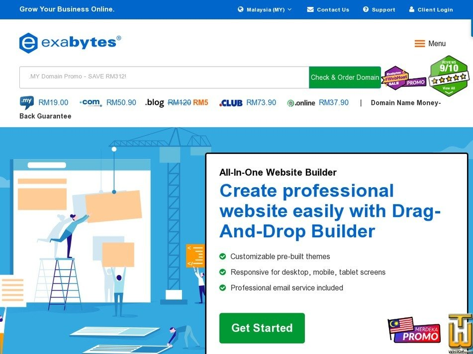 Screenshot of All-In-One Website Builder - EBiz Pro 20 from exabytes.my