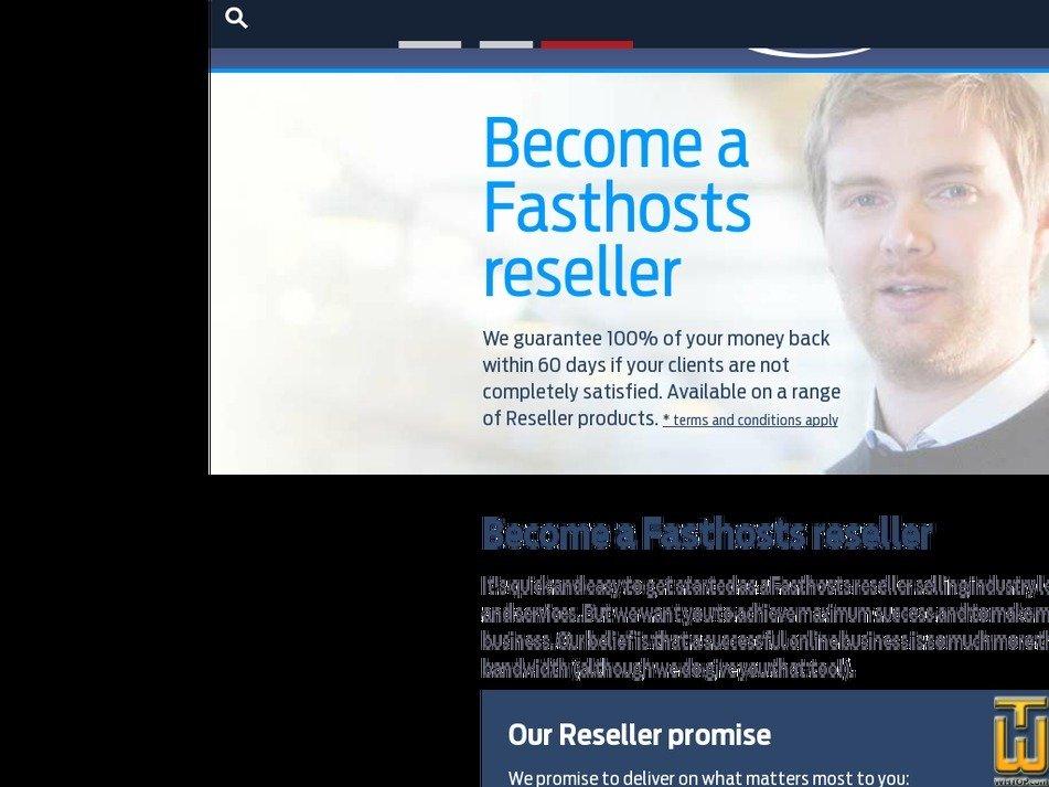 Screenshot of Reseller Platform from fasthosts.co.uk