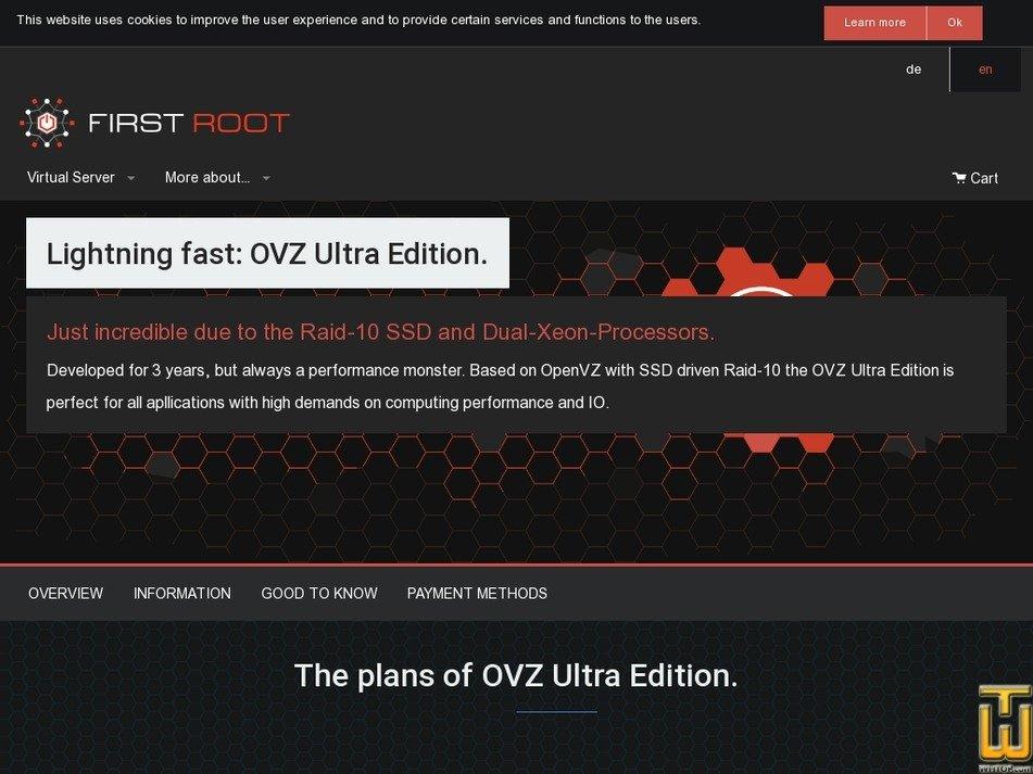 Screenshot of OVZ Ultra Edition Start from first-root.com
