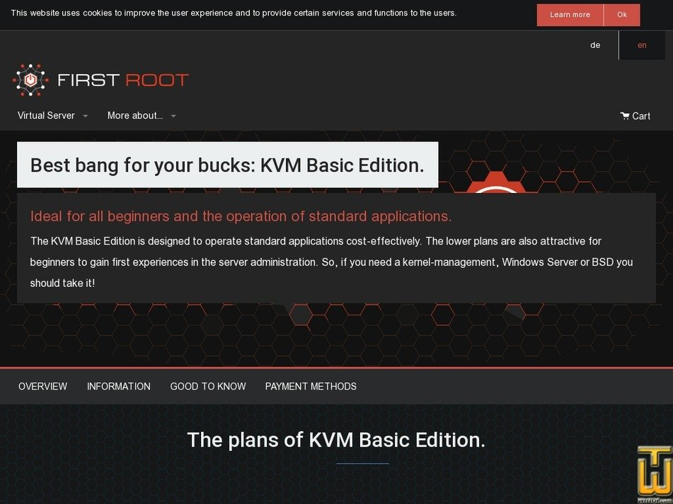 Screenshot of KVM Basic Edition Start from first-root.com
