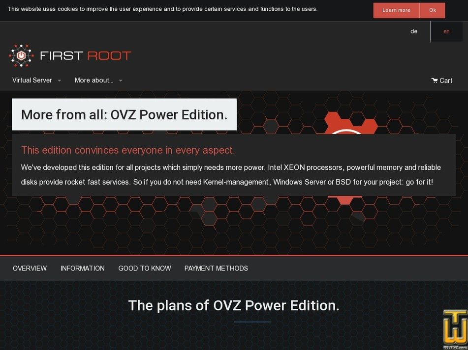 Screenshot of OVZ Power Edition Start from first-root.com