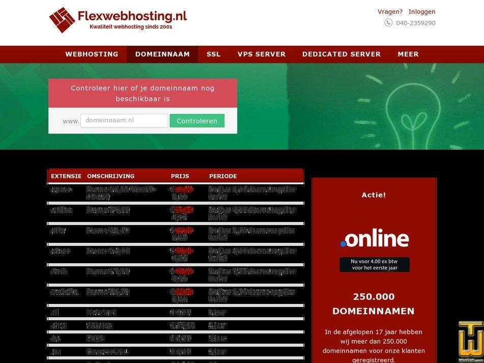 screenshot of .com from flexwebhosting.nl