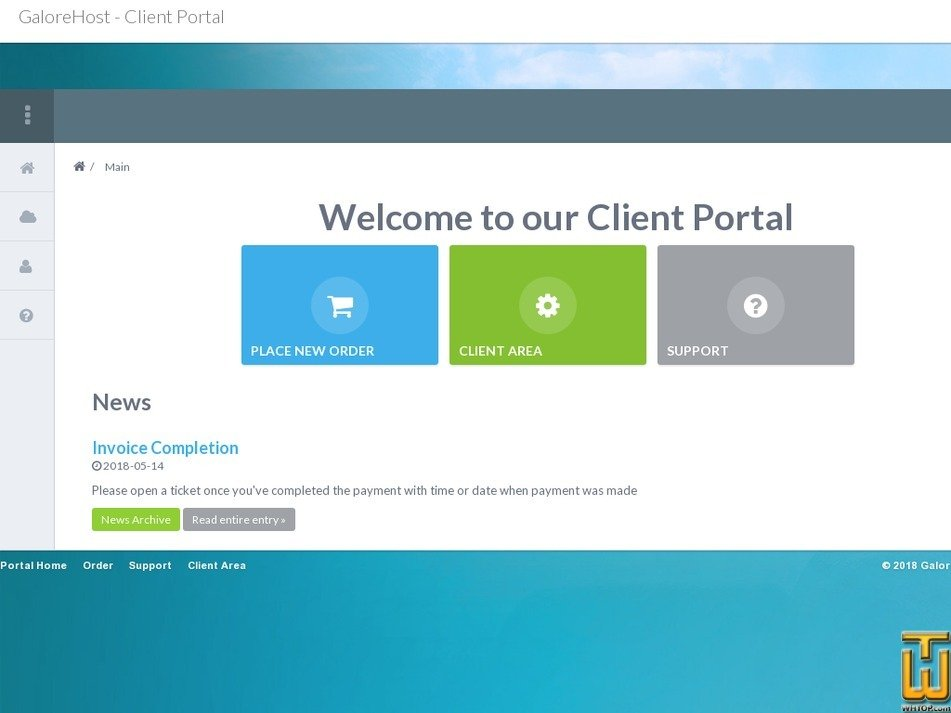 Screenshot of Personal from galorehost.com