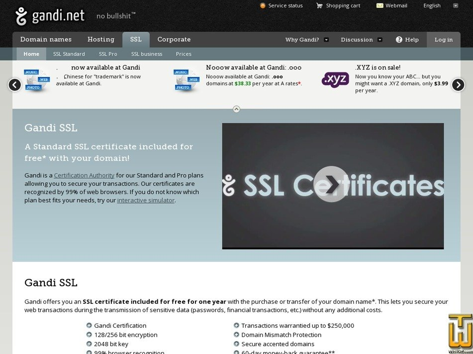 Pro Ssl Wildcard From Gandi 39123 On Ssl Certificates