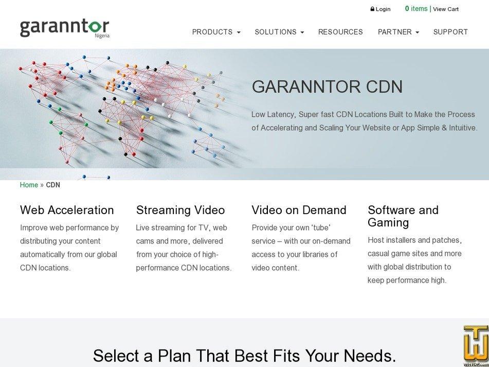 Screenshot of Custom or Private CDN from garanntor.ng