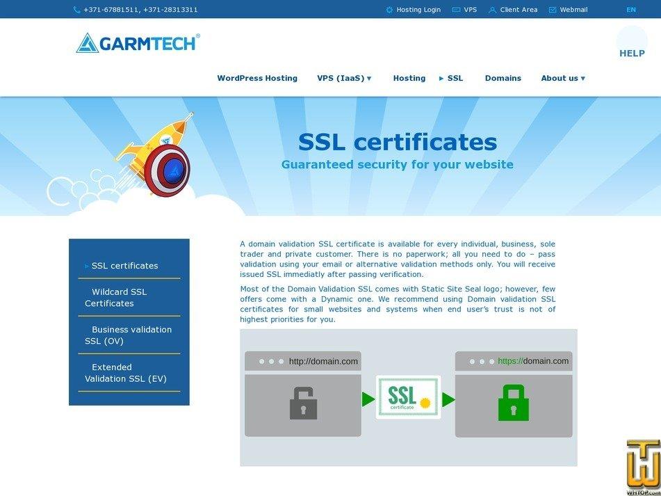 screenshot of SECTIGO POSITIVESSL from garmtech.lv