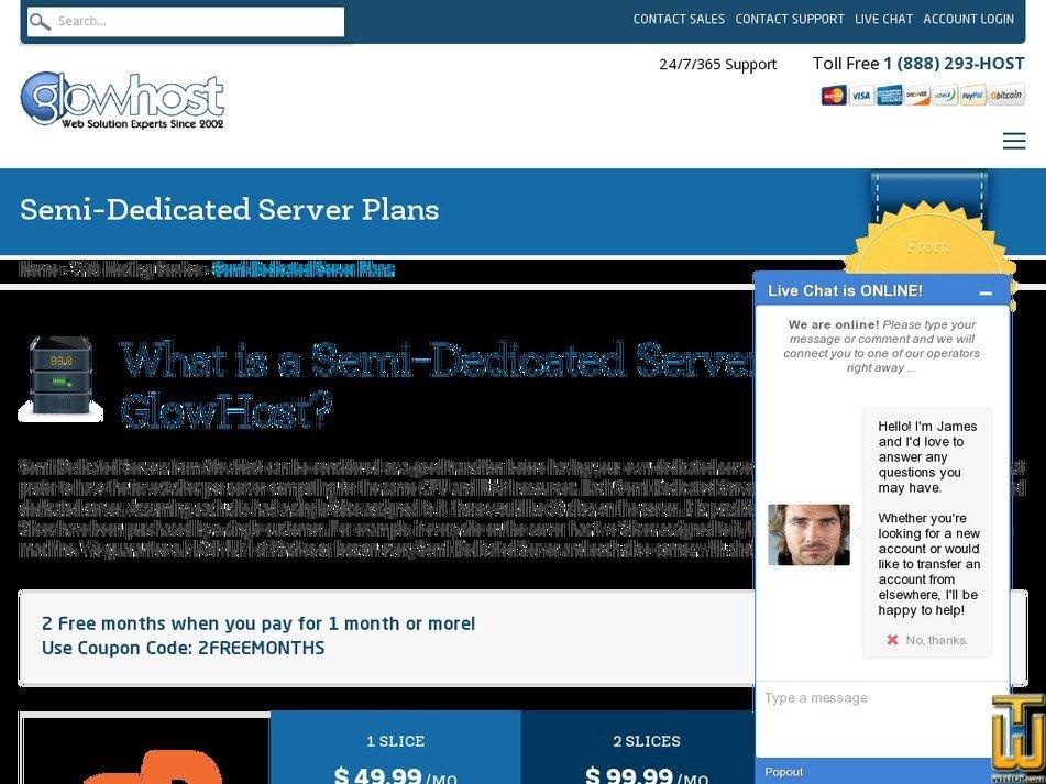 Screenshot of 2 Slice from glowhost.com