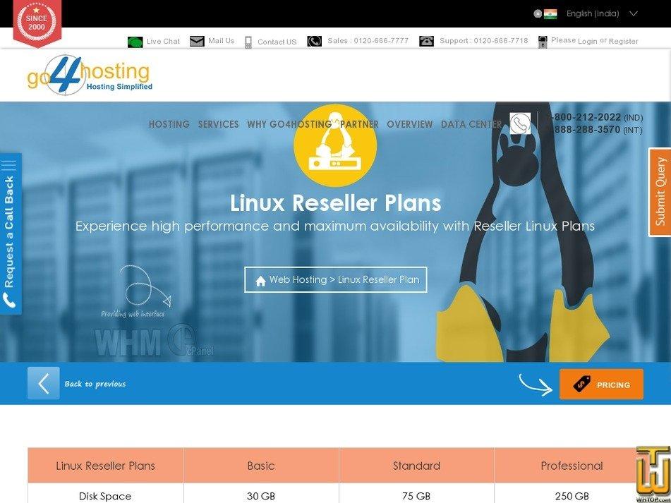 Screenshot of Basic from go4hosting.com