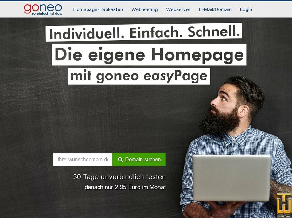 screenshot of easy Page from goneo.de
