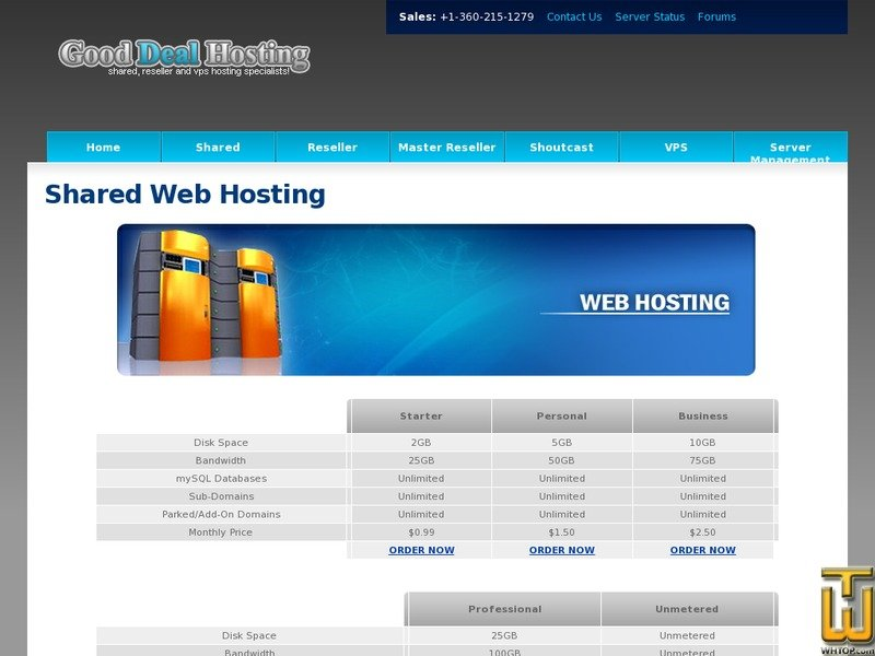 screenshot of Starter from goodealhosting.cn