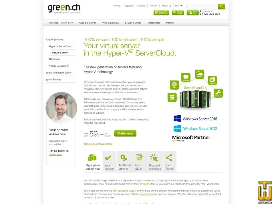 captura de pantalla de VS64 desde green.ch