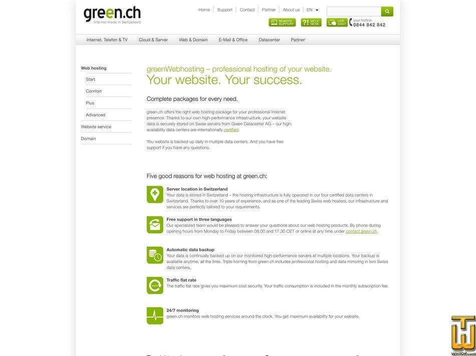 скриншот Start от green.ch