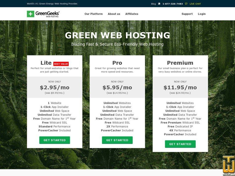 Ecosite Lite > greengeeks.com, #64094 on Shared, Linux