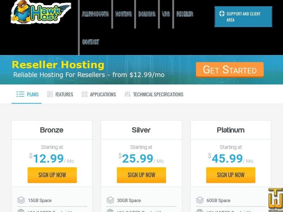 Screenshot of Bronze from hawkhost.com