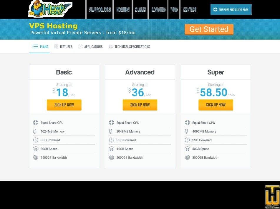 screenshot of Super from hawkhost.com