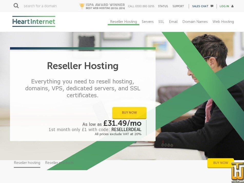 Screenshot of Reseller from heartinternet.uk