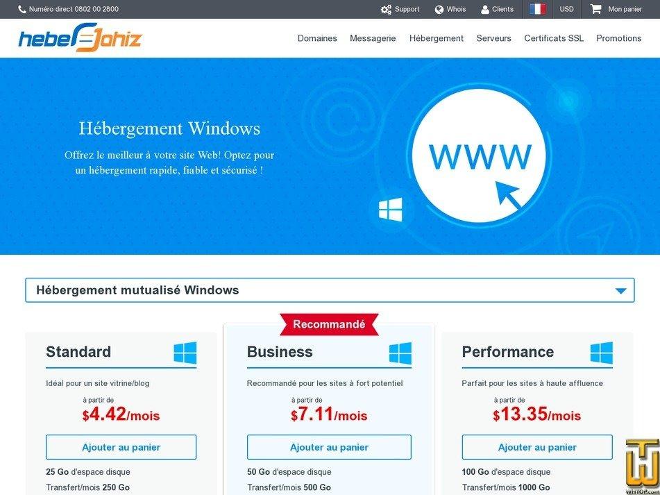 screenshot of Business from heberjahiz.com