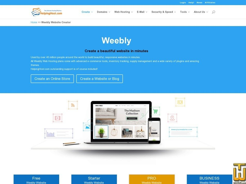 Free Weebly Website Editor > helpinghost com, #80236