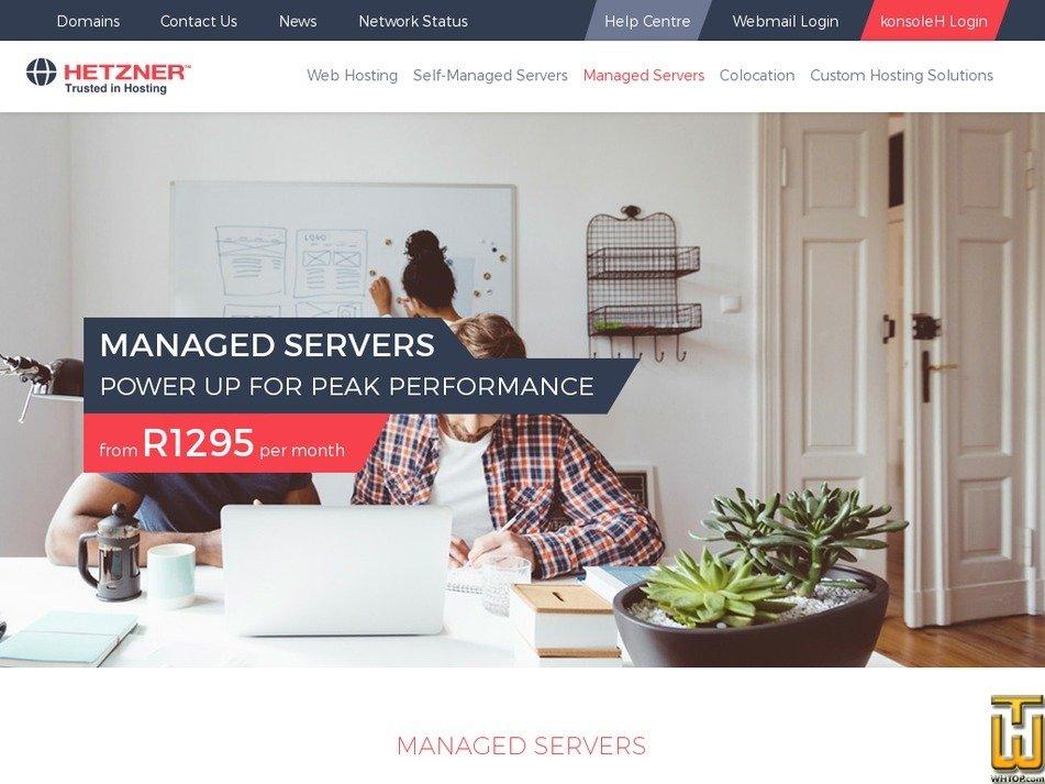 Screenshot of Managed from hetzner.co.za