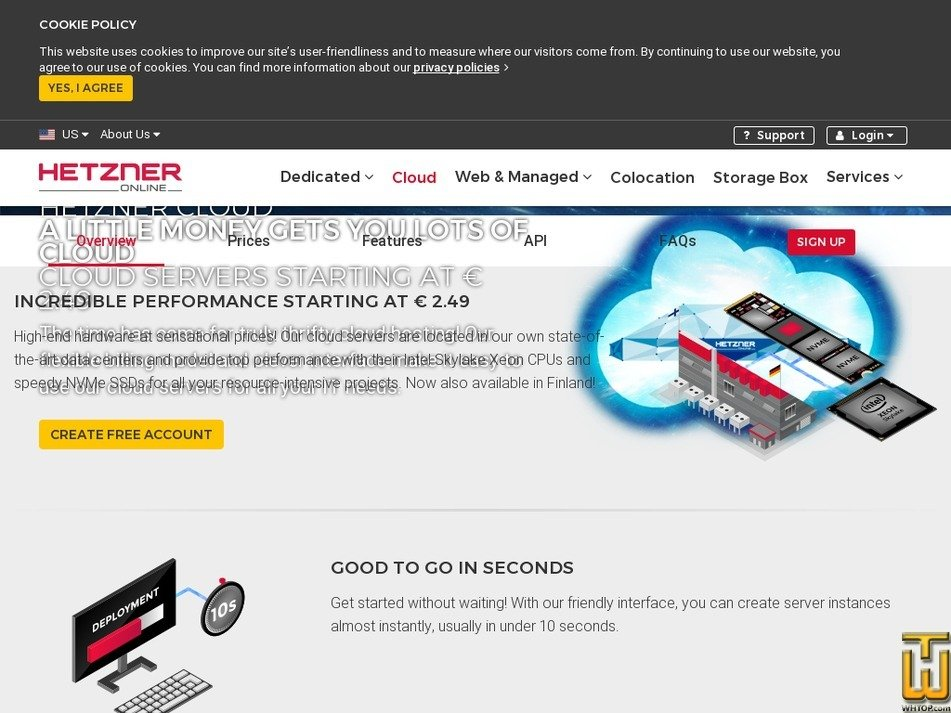 screenshot of CCX51 from hetzner.de