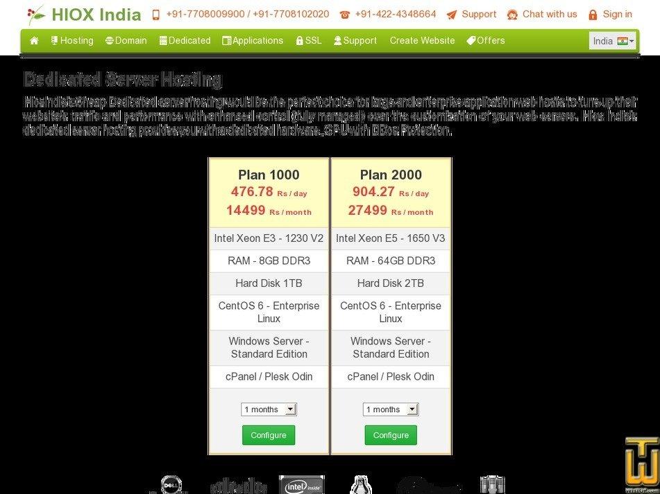 Screenshot of Plan 1000 from hioxindia.com