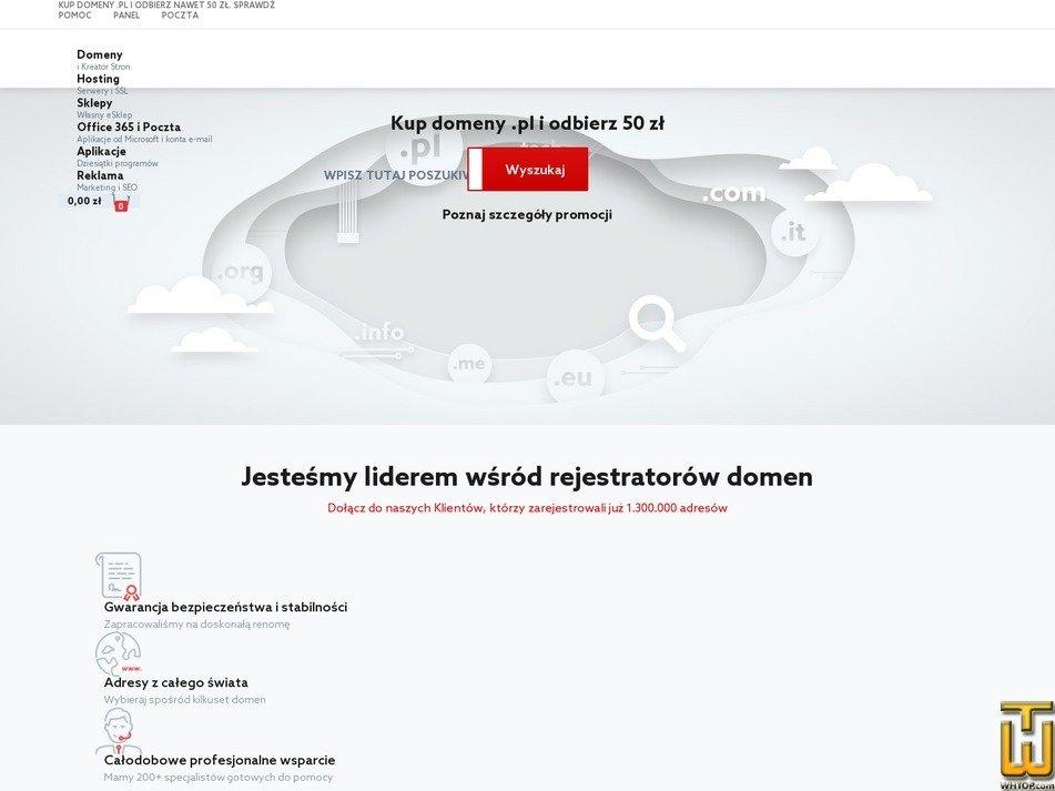 скриншот .com от home.pl