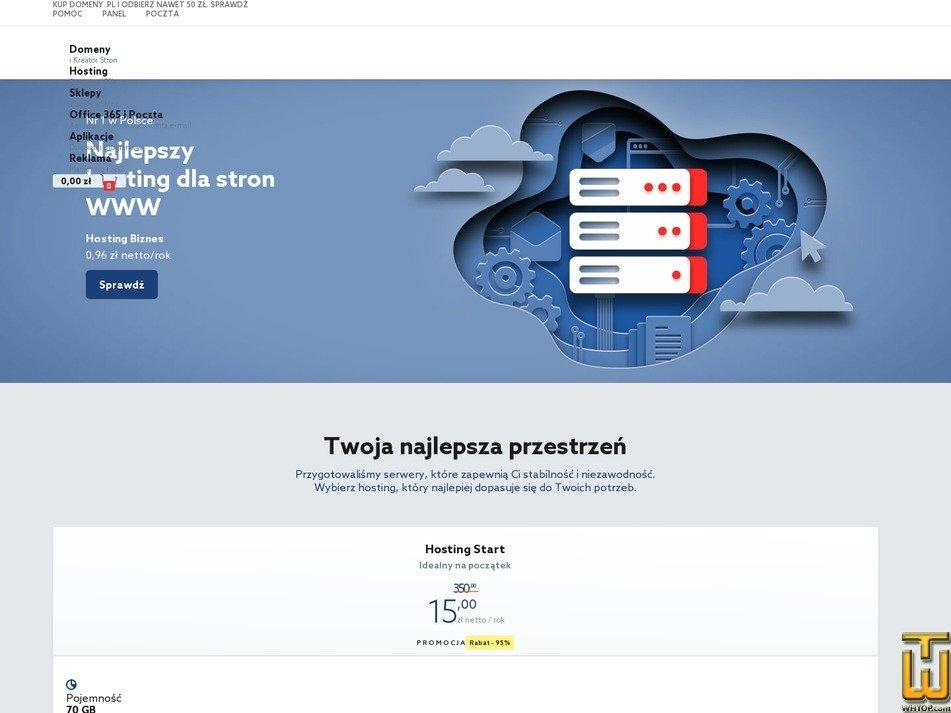 screenshot of Hosting Biznes from home.pl