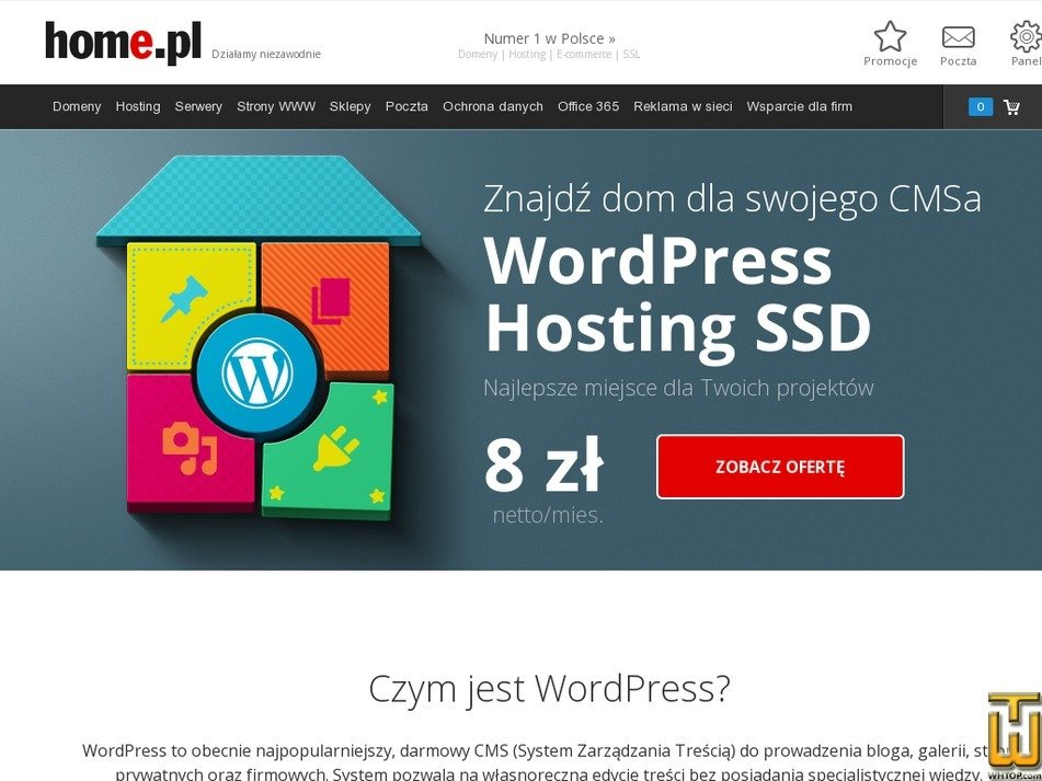 Screenshot of WORDPRESS  HOSTING BASIC from home.pl